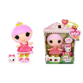 "Lalaloopsy Littles Doll - Trinket Sparkles with Pet Yarn Ball Kitten, 7"" princess doll"