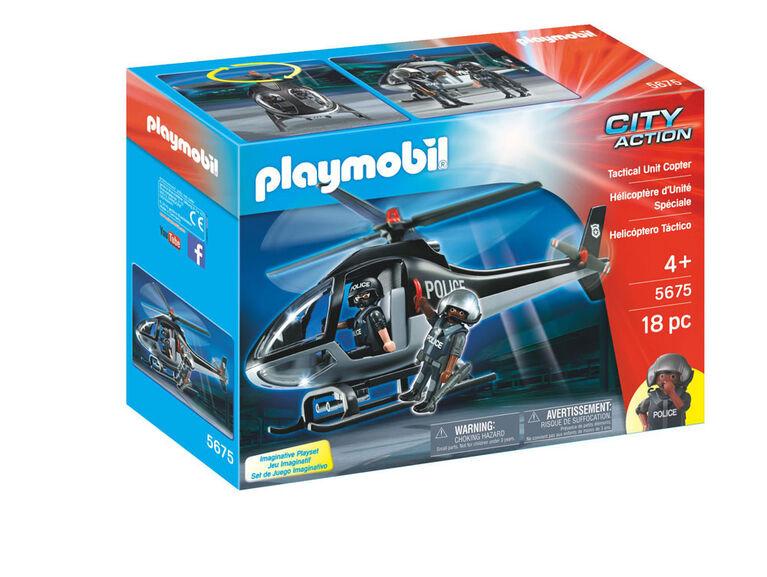 Playmobil - Hélicoptère d''Unité Spéciale 5675