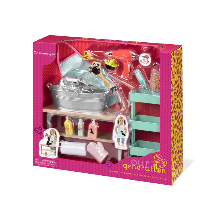 Our Generation, Pet Grooming Set for 18-inch Dolls