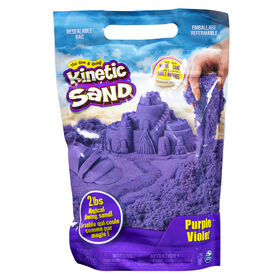Kinetic Sand, 907 g (2 lb) de Kinetic Sand violet pour mélanger, modeler et créer