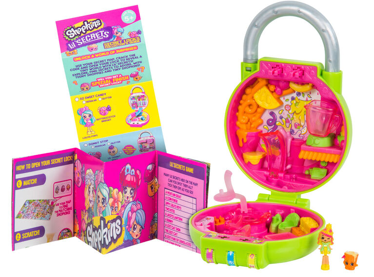 Shopkins Lil' Secrets Mini Playset - Cutie Fruity Smoothies<br><br>