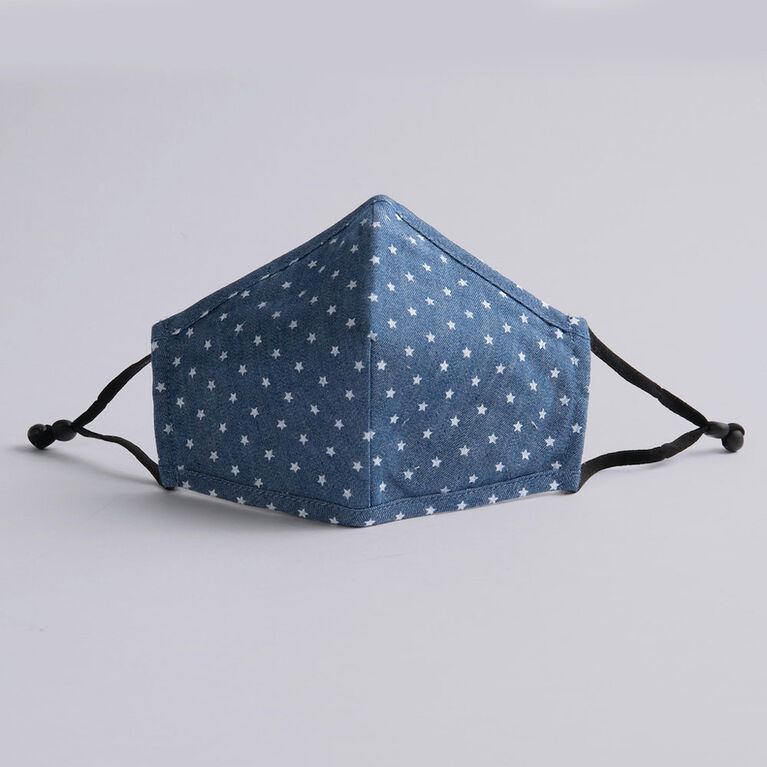 kidcare - Cloth Face Mask Youth 1-pack - Starry Denim