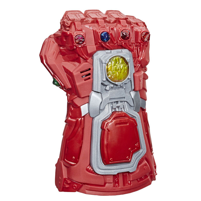 Marvel Avengers: Endgame Red Infinity Gauntlet Electronic Fist Roleplay Toy With Lights And Sounds