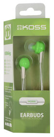 Koss Earbud KEB6 in Ear w/Enhanced Driver & Mic Green