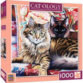 Cat-Ology Raja And Mulan 1000 Piece Square Jigsaw Puzzle By Jenny Newland