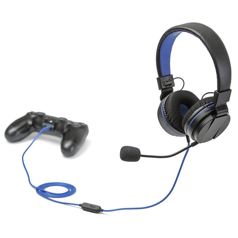 Snakebyte PS4 <br>Casque de jeu sur l'oreilleNoir / Bleu
