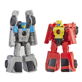 Transformers Generations War for Cybertron: Siege - Duo de figurines Micromaster Patrouille en voiture Autobot.