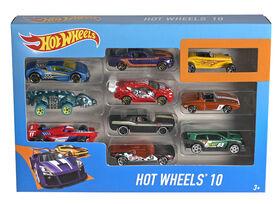 Coffret de 10 véhicules Hot Wheels - Les styles peuvent varier.