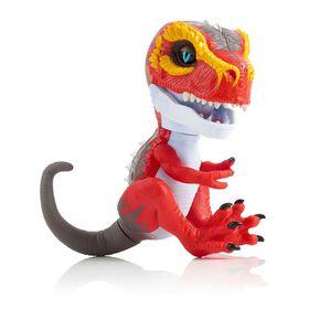 T-Rex sauvage par Fingerlings - Ripsaw (Rouge) - Dinosaure interactif à collectionner - par WowWee.