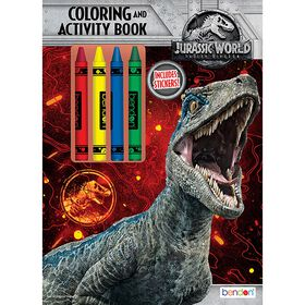 Jurassic World 48 Page Colouring & Activity with Crayons