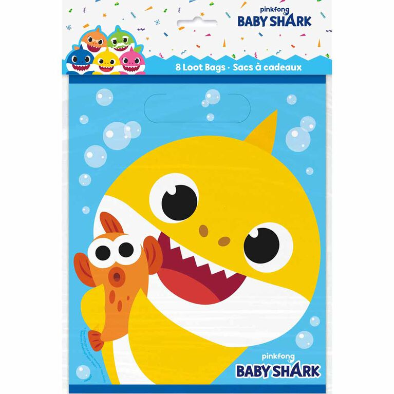 Baby Shark Loot Bags, 8 pieces