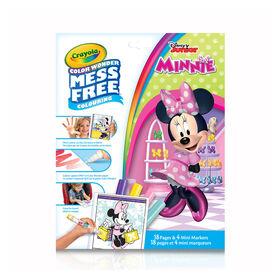 Pages et mini marqueurs Crayola Color Wonder sans dégâts Minnie Mouse