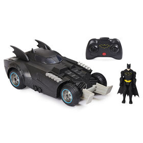 Véhicule radiocommandé Batmobile Launch and Defend BATMAN avec figurine articulée de 10 cm exclusive