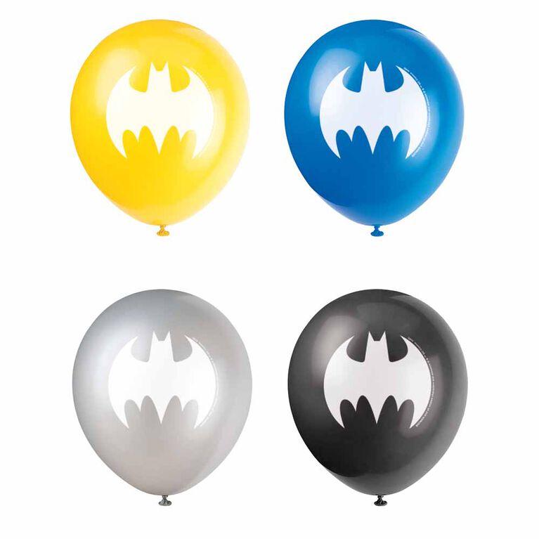 "Batman 12"" Latex Balloons, 8 pieces"