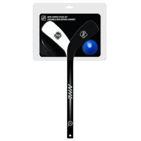 LNH - Ensemble de 2 bâtons de hockey miniatures avec courbe - 2 bâtons joueur