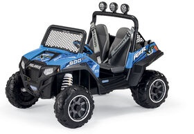 Peg Perego - Polaris RZR 900 Blue 12-Volt Battery Powered Ride-On - R Exclusive