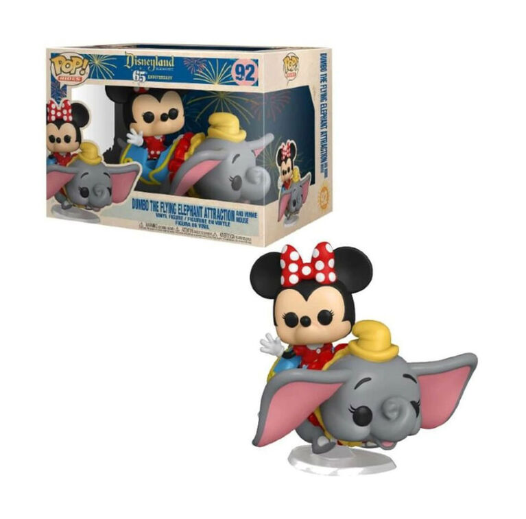 Figurine en Vinyle Dumbo the Flying Elephant Attraction and Minnie Mouse par Funko POP! Disneyland 65th