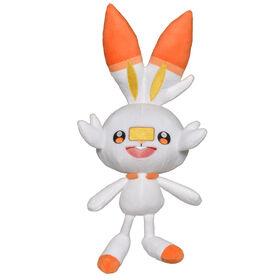 Peluche Pokémon de départ de 20 cm, région de Galar - Flambino (Scorbunny)