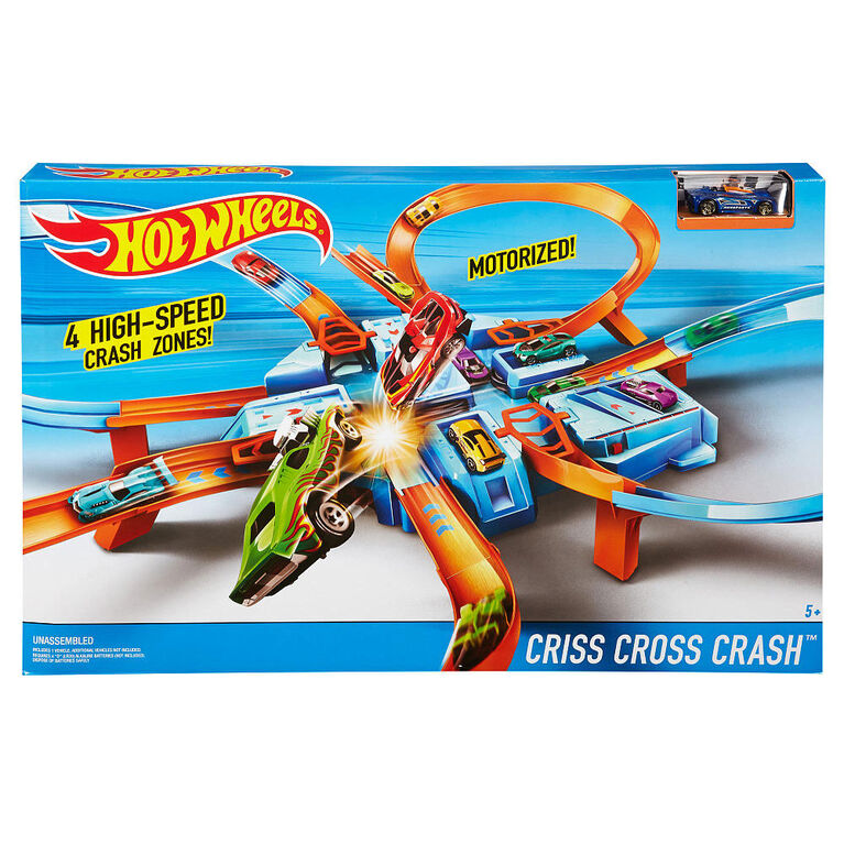 Hot Wheels Criss-Cross Crash Track Set - R Exclusive