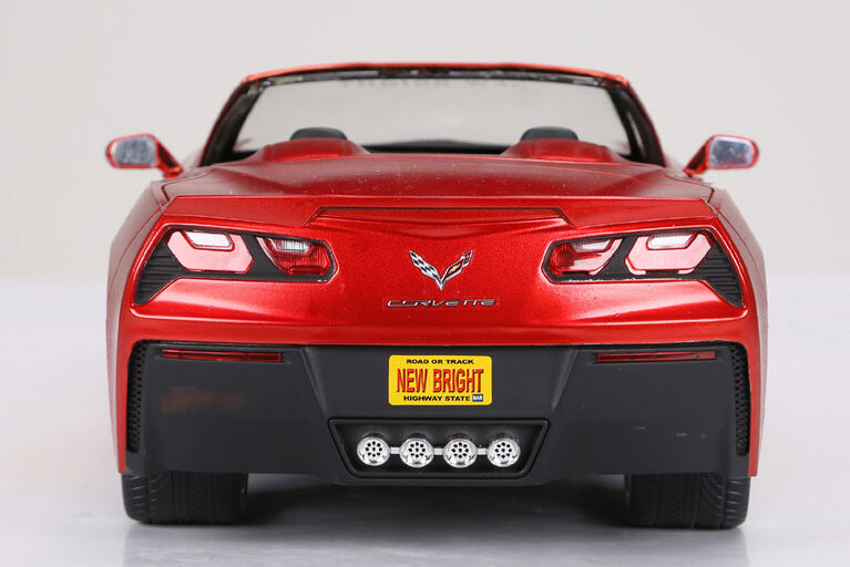 1:8 Remote Control Chargers Corvette - Rouge