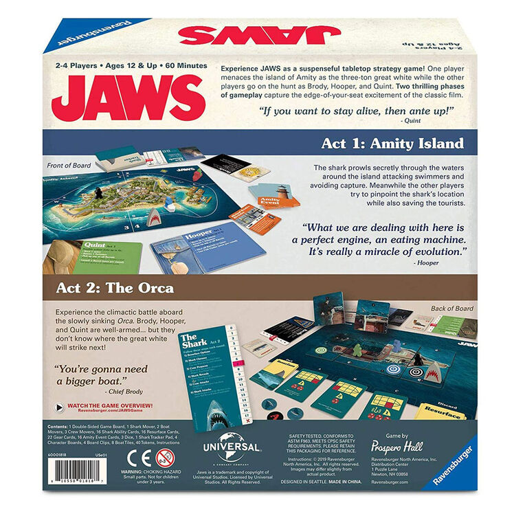 Ravensburger Jaws Strategy Game - English Edition