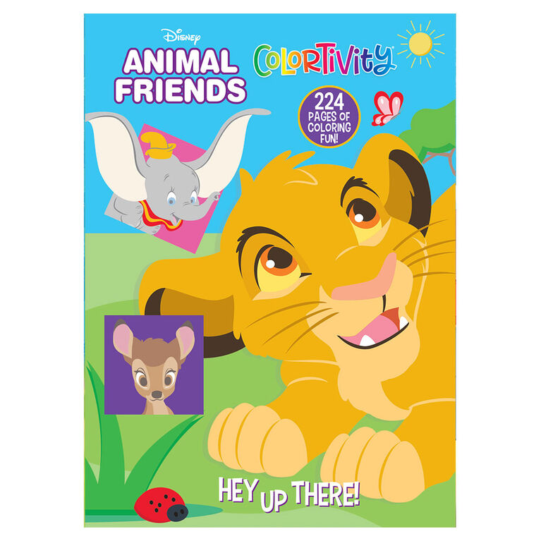 Disney Animal Friends 224 Page Coloring - Édition anglaise