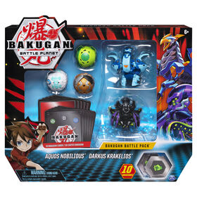 Bakugan, Battle Pack 5-Pack, Aquos Nobilious and Darkus Krakelios