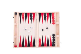 Backgammon Wooden Suitcase - French Edition