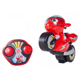 Ricky Zoom Remote Control Turbo Trick Ricky - Remote Control Motorcycle Races, Performs Wheelies & 360 Degree Stunt Spins - R Exclusive