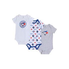 Snugabye Toronto Blue Jays 3 Piece Infant Bodysuit Set 12-18 Months
