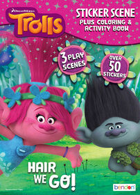 Trolls 24 Page Sticker Scene Plus Colouring & Activity Book