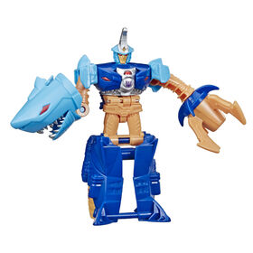 Transformers 1-Step Changer Skybyte Action Figure - Repeatable Driller Drive Action Attack