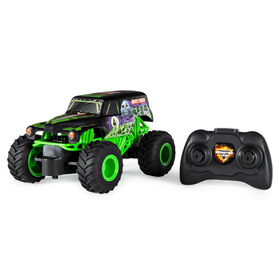 Monster Jam, Official Grave Digger Remote Control Monster Truck, 1:24 Scale, 2.4 GHz