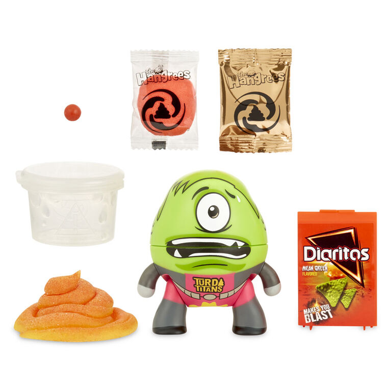 The Hangrees Turd Titans Go! Collectible Parody Figure with Slime