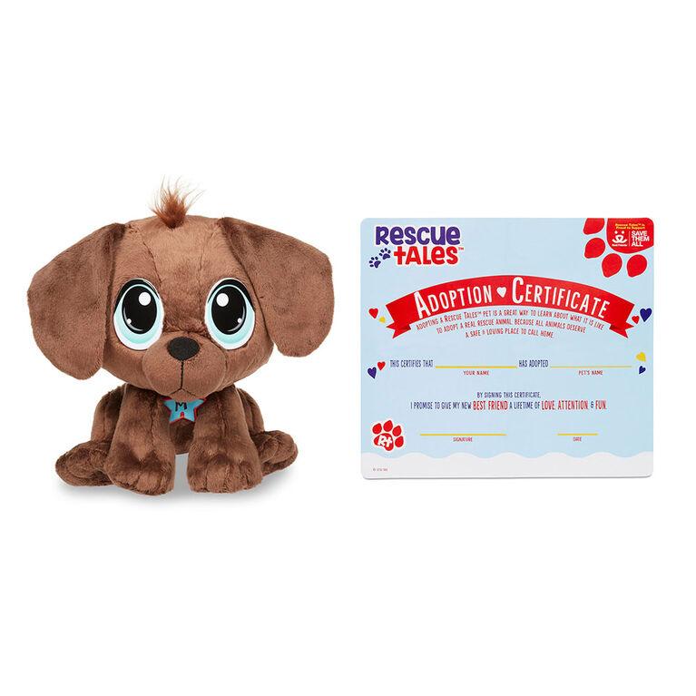 Rescue Tales Scrub 'n Groom Bathtub Playset w/ Chocolate Lab Plush Pet Toy