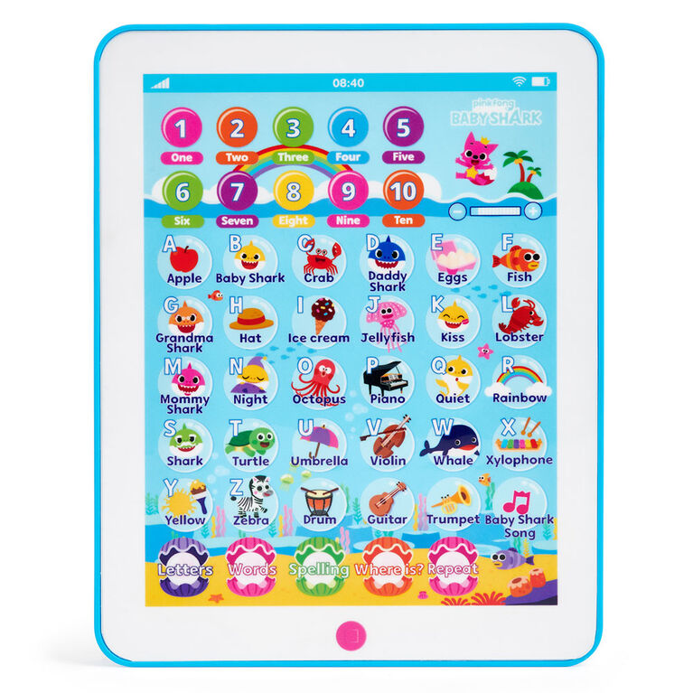 Pinkfong Baby Shark Tablet - Educational Preschool Toy - By WowWee - English Edition