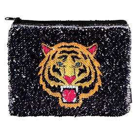 Sequins Tiger/Fierce Reveal Pouch
