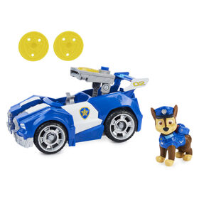 PAW Patrol, Chase's Deluxe Movie Transforming Toy Car with Collectible Action Figure