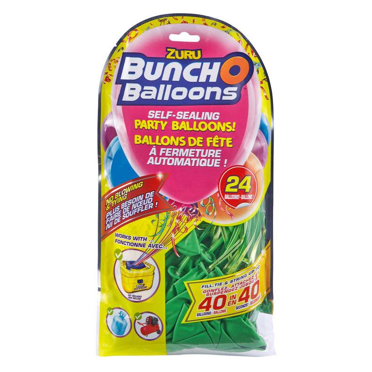 24 ballons BunchOBalloons en latex à fermeture automatique de 11pouces (28cm) (ballons vert) de ZURU