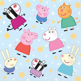 Peppa Pig Luncheon Napkins, 16 pieces