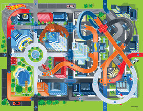 Hot Wheels Jumbo Mega Mat With 2 Vehicles