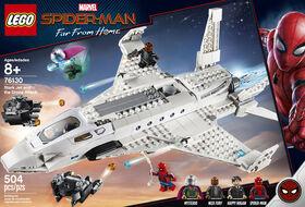 LEGO Super Heroes Marvel L'attaque de Spider Man avec le jet de S 76130