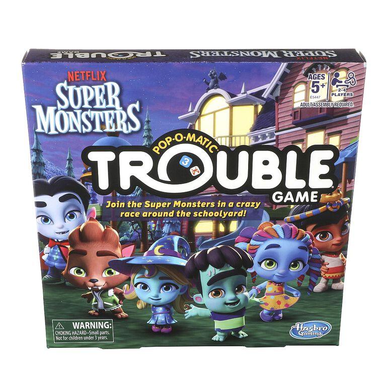 Hasbro Gaming Jeu Trouble : Édition Super Mini Monstres de Netflix.