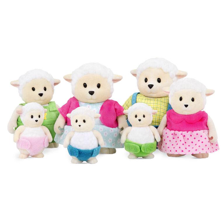 Curlycuddles Moutons, Woodzeez, Ensemble de petites figurines de moutons