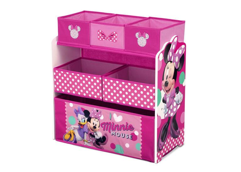 Organiseur de jouets Minnie Mouse de Disney à 6 bacs par Delta Children