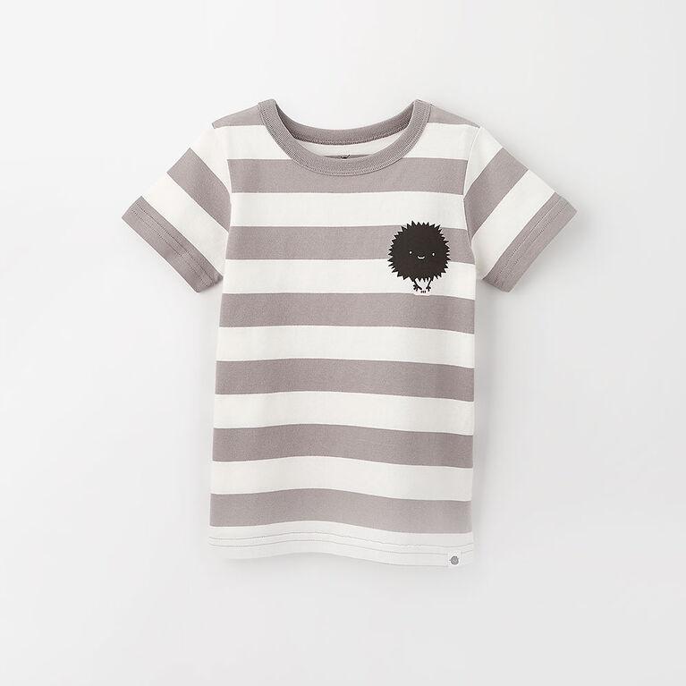 little styler graphic tee, 5-6y - light grey
