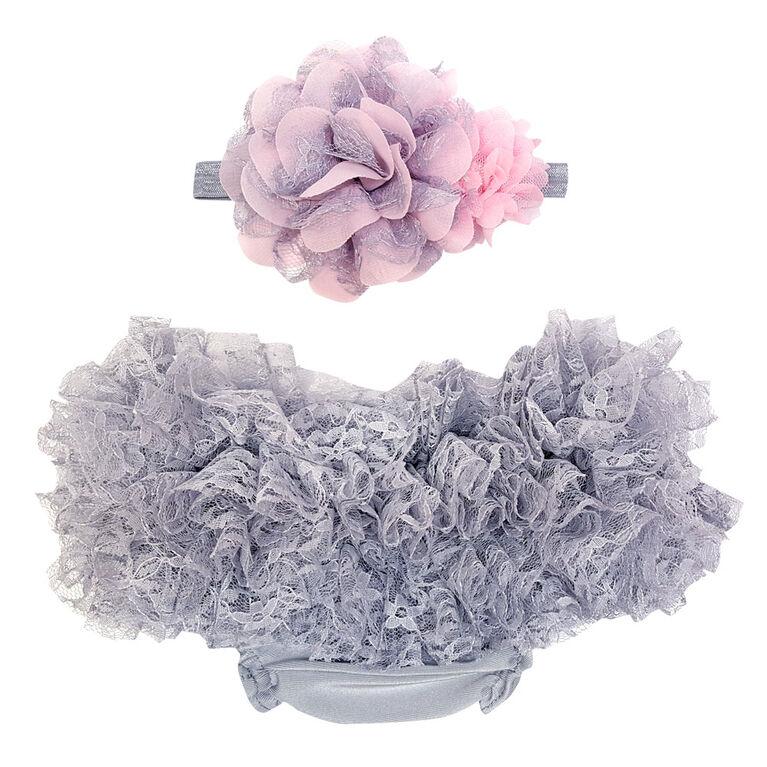 So'Dorable Diaper Cover Set - Grey