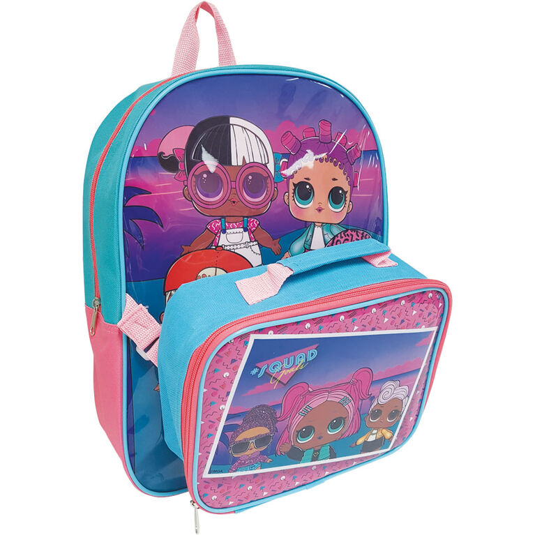"L.O.L. Surprise! 16"" Backpack & Lunch Bag Combo"