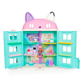 DreamWorks Gabby's Dollhouse, Purrfect Dollhouse with 2 Toy Figures, 8 Furniture Pieces, 3 Accessories, 2 Deliveries and Sounds