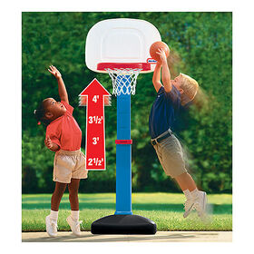 Little Tikes - Tot Sports - Easy Score Basketball Set - Round Backboard
